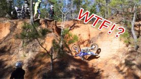 HE LAUNCHED HIS DIRT BIKE INTO A WALL!
